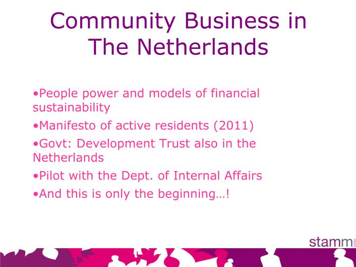 Community Business in    The Netherlands