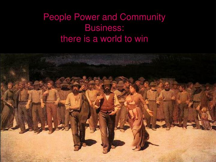 People Power and Community Business: