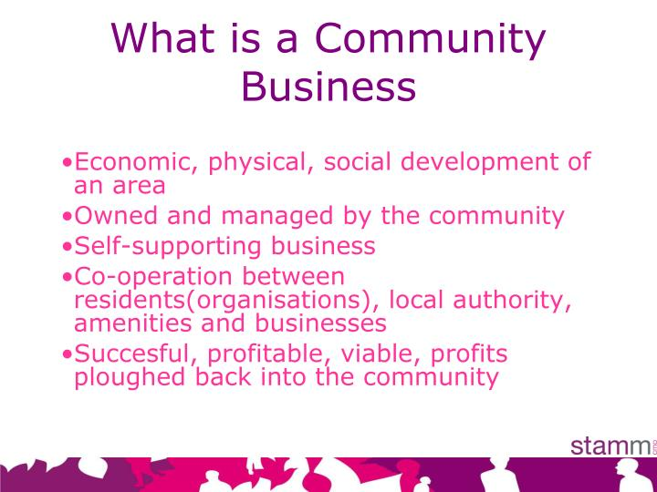 What is a Community Business