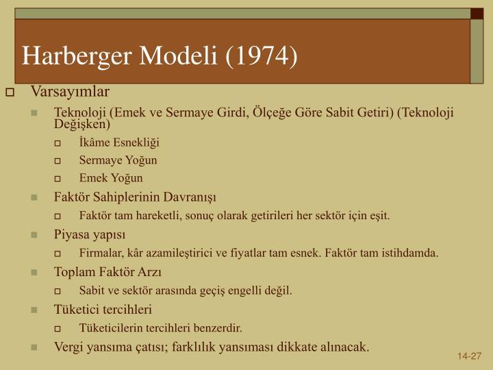 Harberger Model