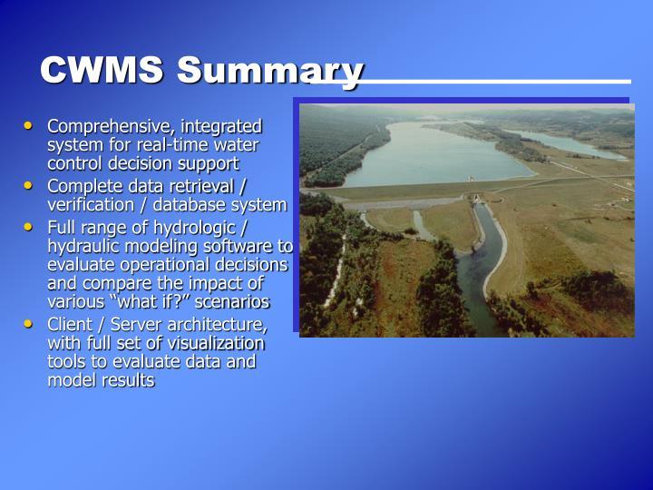 CWMS Summary