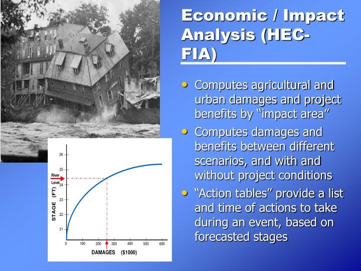 Economic / Impact Analysis (HEC-FIA)