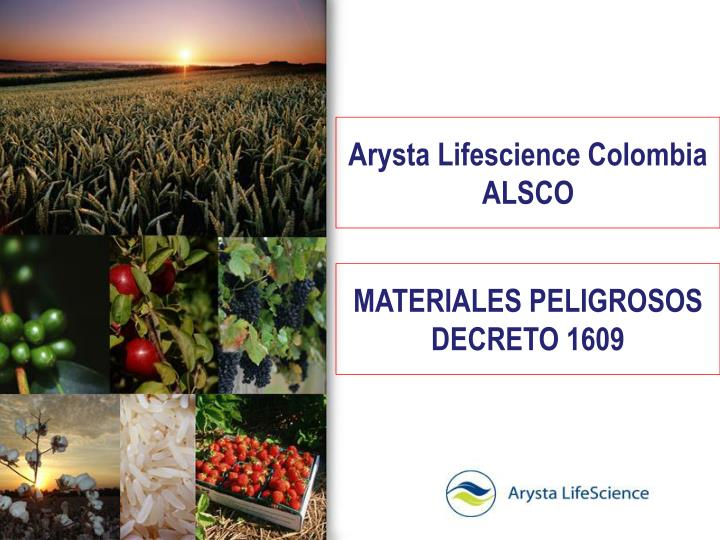 Arysta lifescience colombia alsco