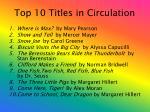 top 10 titles in circulation