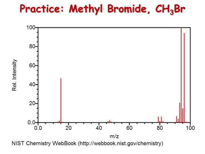 Practice: Methyl Bromide, CH
