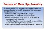 purpose of mass spectrometry