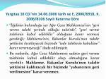 yarg tay 10 cd nin 14 06 2006 tarih ve e 2006 6918 k 2006 8106 say l karar na g re