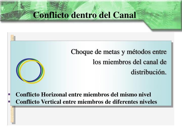 Conflicto dentro del Canal