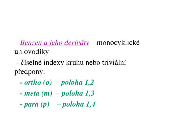 Benzen a jeho deriváty
