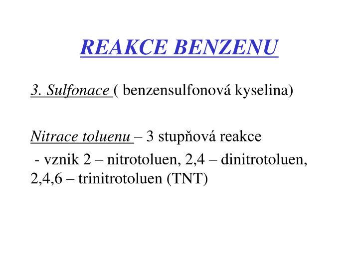 REAKCE BENZENU