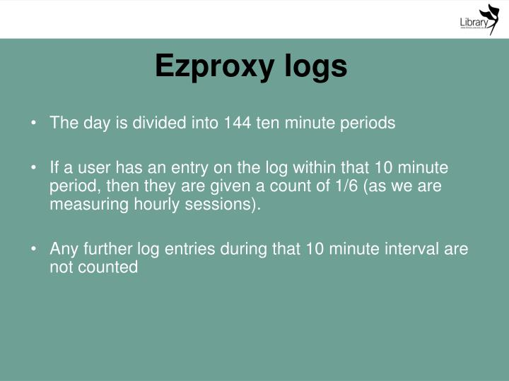 Ezproxy logs