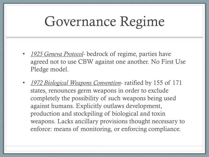 Governance Regime