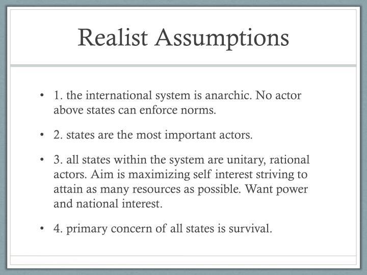 Realist Assumptions