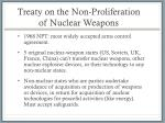 treaty on the non proliferation of nuclear weapons