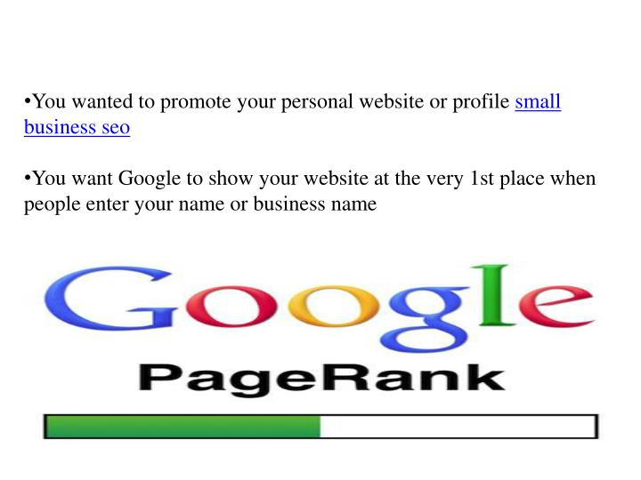 You wanted to promote your personal website or profile