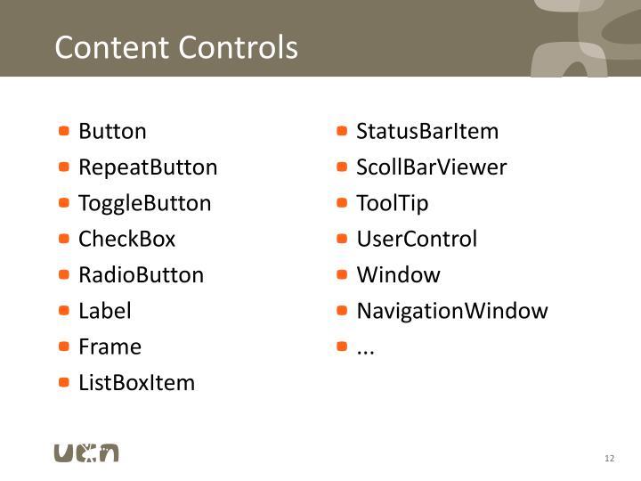 Content Controls