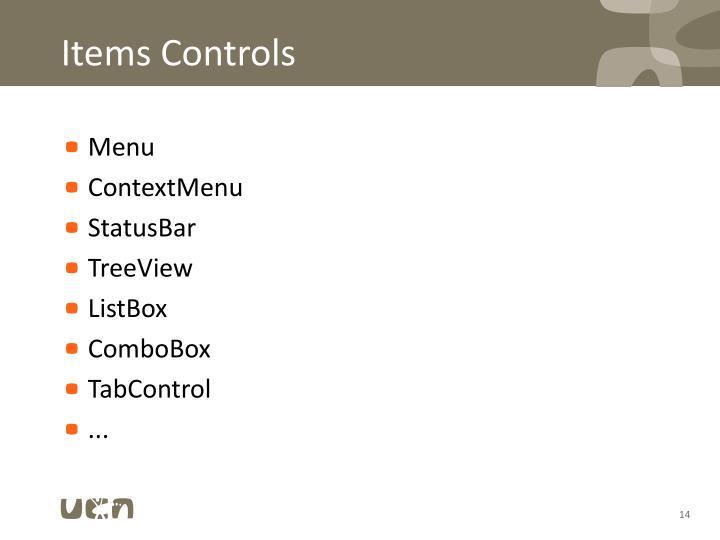 Items Controls