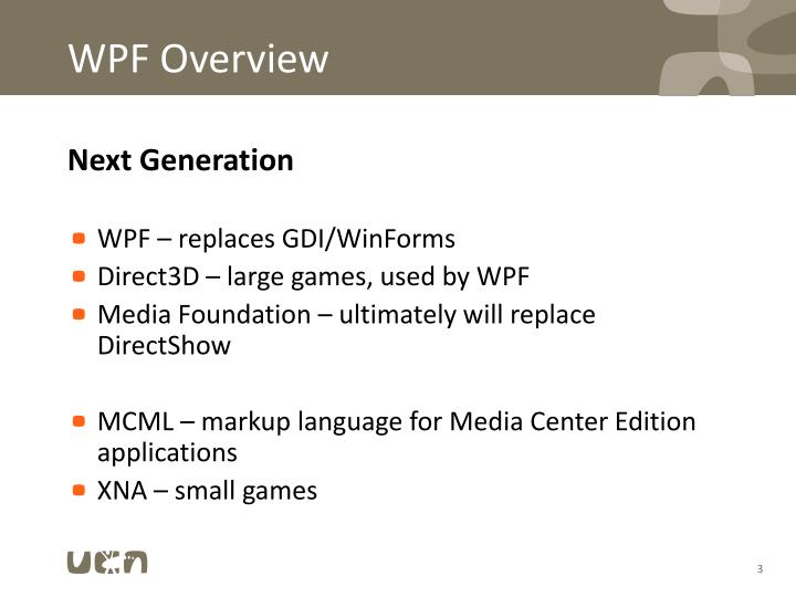 WPF Overview
