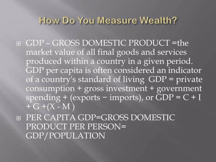 How Do You Measure Wealth?