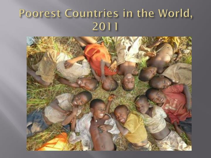 Poorest Countries in the World, 2011