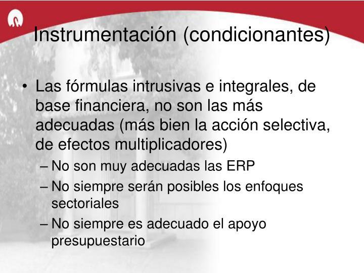 Instrumentación (condicionantes)