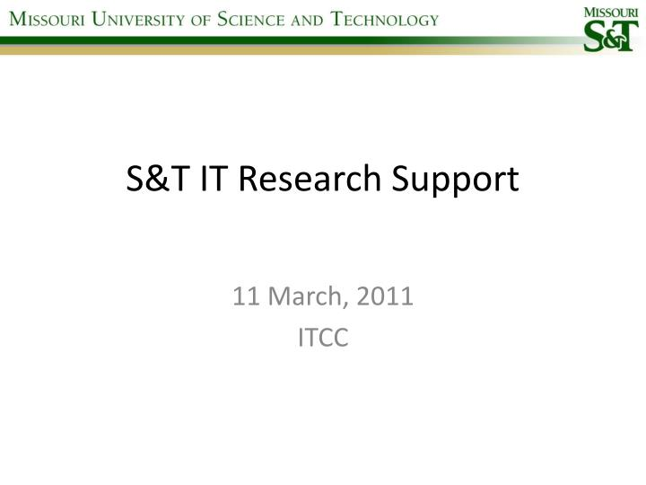 S t it research support