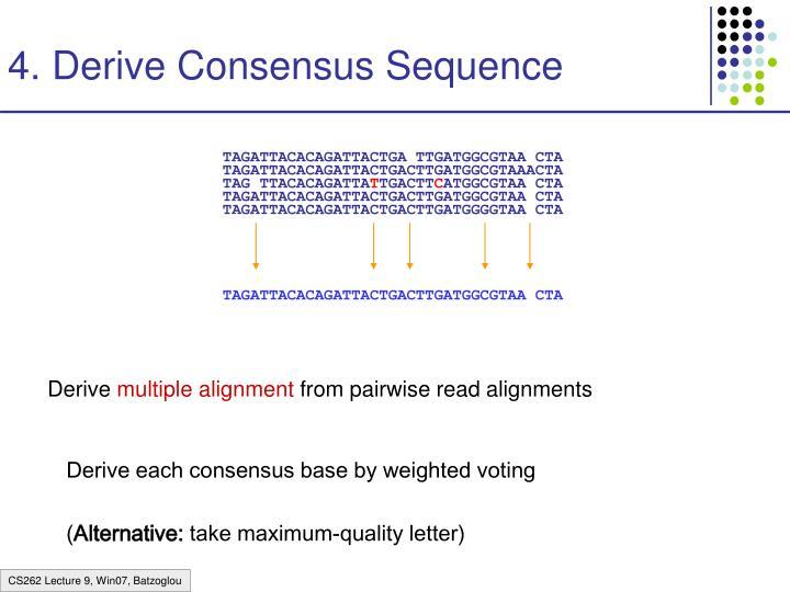4. Derive Consensus Sequence