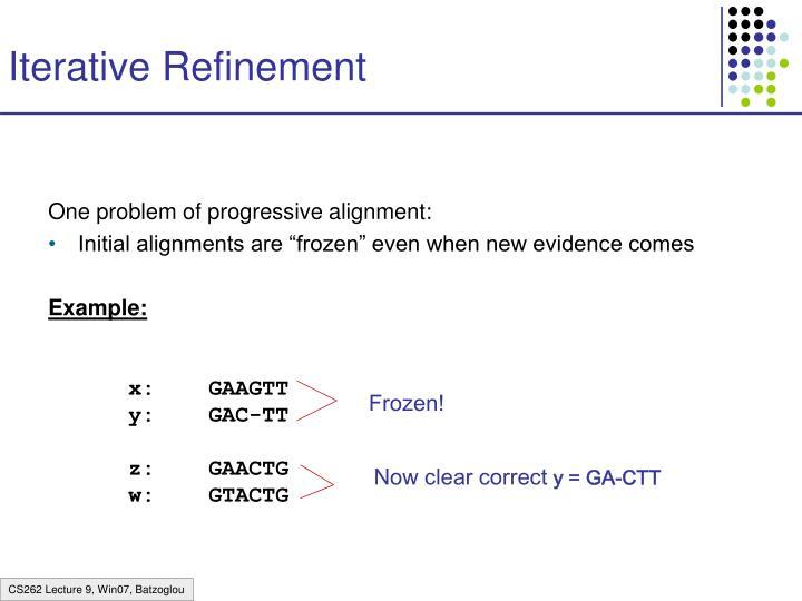 Iterative Refinement