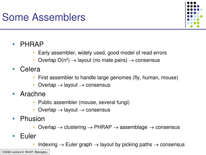 Some Assemblers