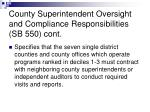 county superintendent oversight and compliance responsibilities sb 550 cont
