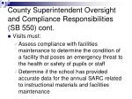 county superintendent oversight and compliance responsibilities sb 550 cont2