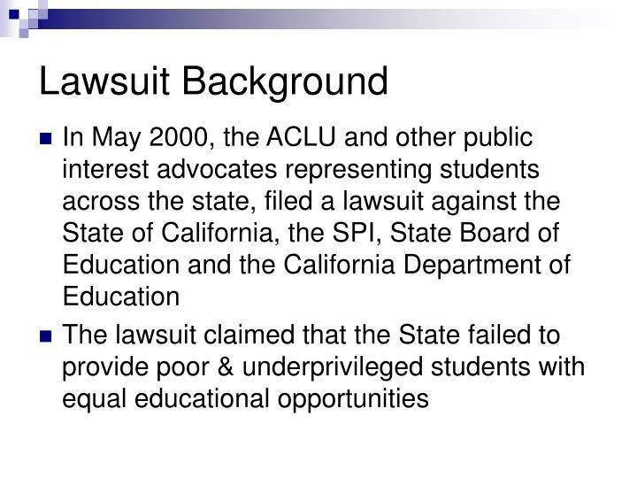 Lawsuit Background