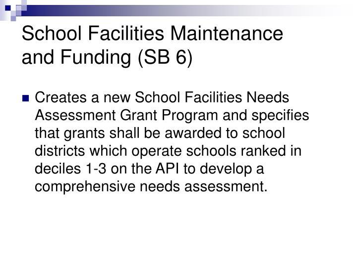 School Facilities Maintenance