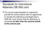 standards for instructional materials sb 550 cont2