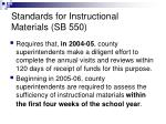 standards for instructional materials sb 550