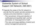 statewide system of school support s4 network ab 3001