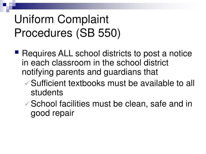 Uniform Complaint