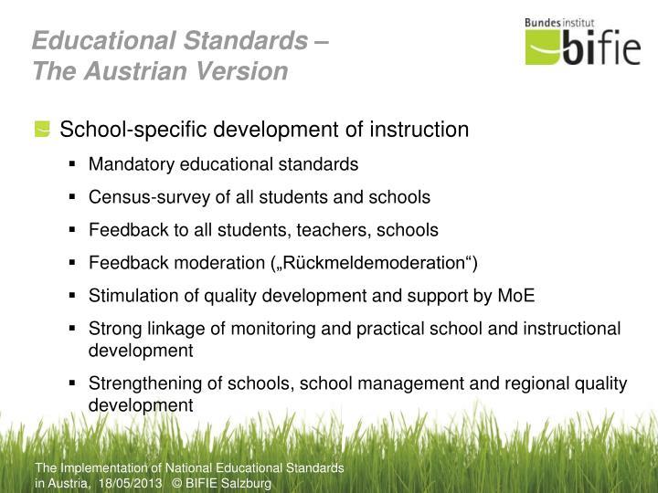 Educational Standards –