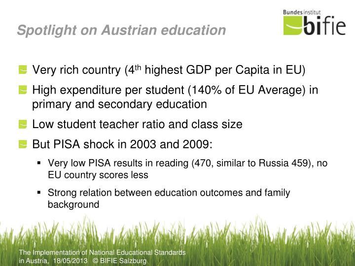 Spotlight on Austrian education
