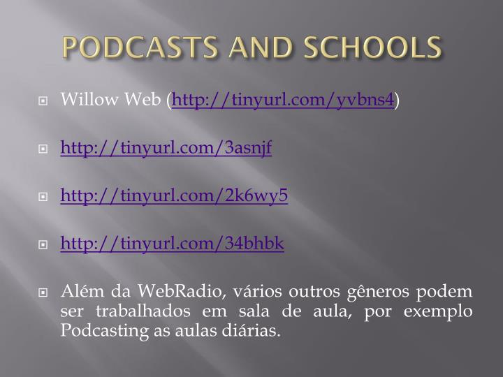 PODCASTS AND SCHOOLS