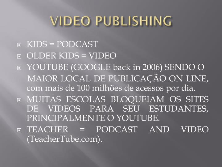 VIDEO PUBLISHING