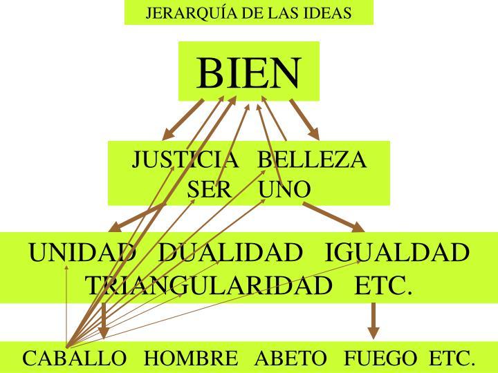 JERARQUÍA DE LAS IDEAS