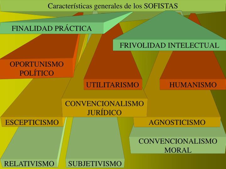 Características generales de los SOFISTAS