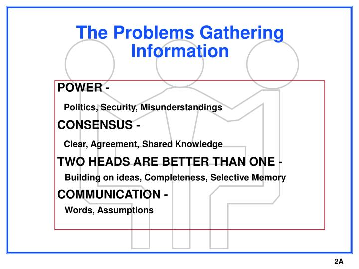 The problems gathering information