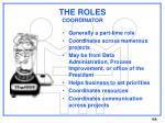 the roles coordinator
