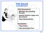 the roles documentors