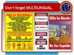 don t forget multilingual