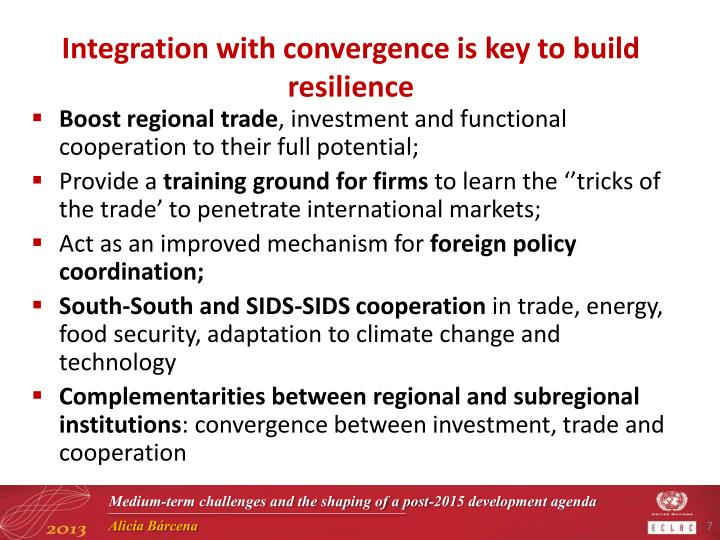 Integration with convergence is key to build resilience