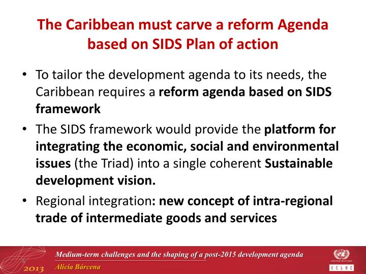 The Caribbean must carve a reform Agenda based on SIDS Plan of action