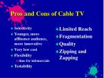 pros and cons of cable tv